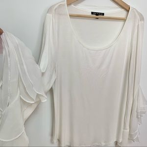 2/$20 Cable & Gauge White Long Sleeve Shirt